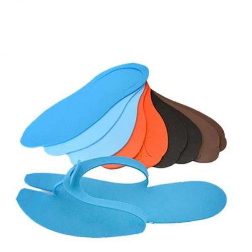 Цветни чехли за педикюр за еднократна употреба