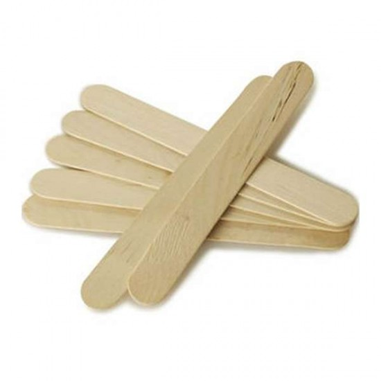 Дървени шпатули за кола маска - 100 бр.