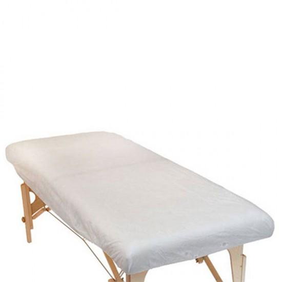 Полиетиленови еднократни чаршафи за масажно легло с ластик - 10 броя