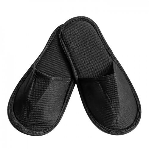 ТНТ затворени чехли с плътна подметка, Черни