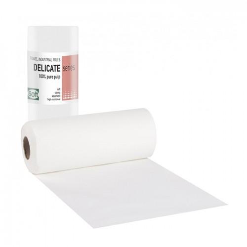 Кърпи на ролка от двупластова хартия Softcare за еднократна употреба