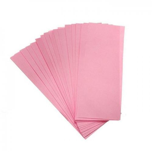 Еднократни ленти за кола маска от нетъкан текстил в розов цвят 50 броя