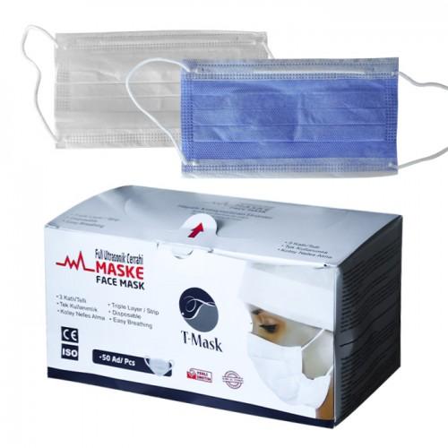 Медицински маски за еднократна употреба T-mask, TNT - 50 бр