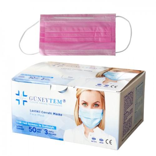 Медицински маски за еднократна употреба Güneytem, TNT - 50 бр