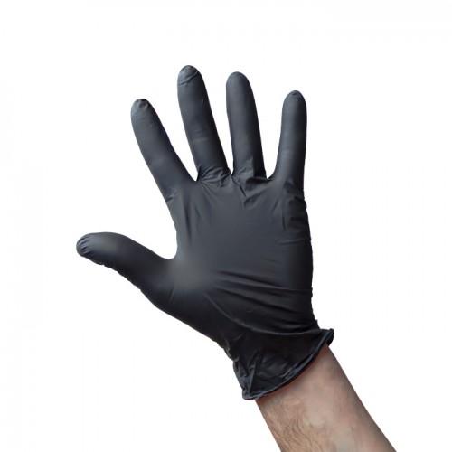 Еднократни нитрилови ръкавици в черен цвят, 100 броя