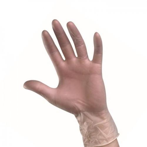 Качествени прозрачни ръкавици от винил без пудра - 100 броя