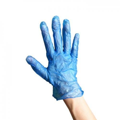 Предпазни ръкавици от винил сини 100 броя