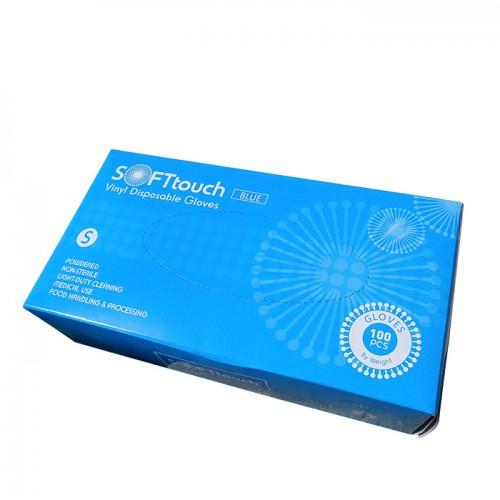 Soft touch нестерилни еднократни ръкавици от винил 100 броя