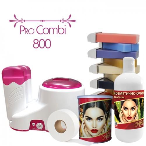 Комплект за обезкосмяване чрез кола маска Pro Combi 800